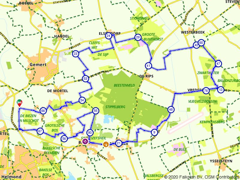 Aarle-Rixtel, Elsendorp en Milheeze