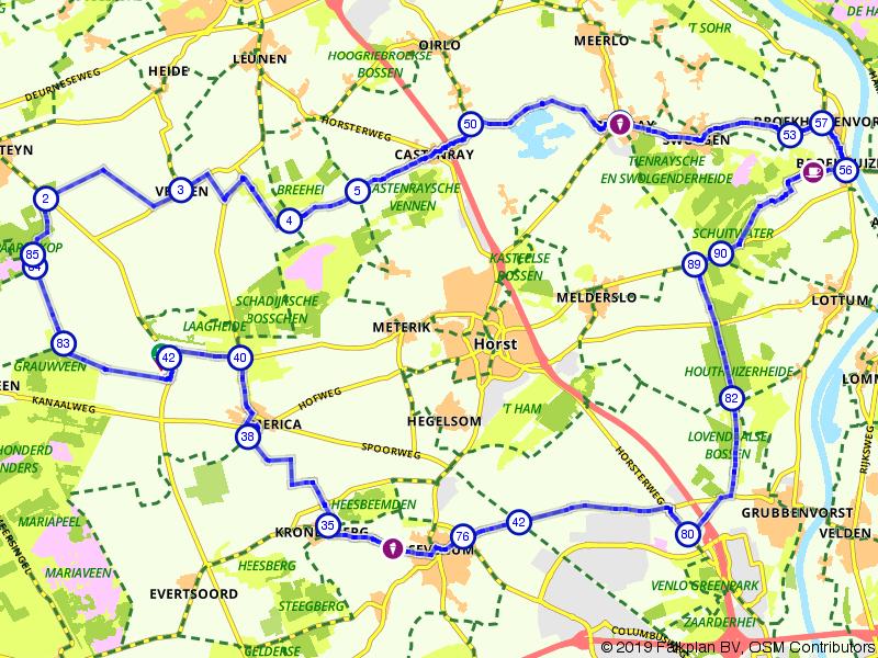 IJs en blauwe bessen route Limburg