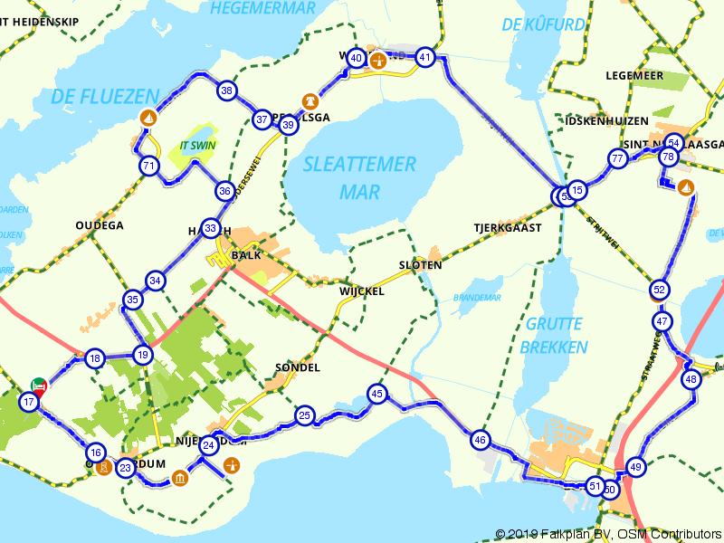 Rondje Slotermeer, Tjeukemeer en Gaasterland