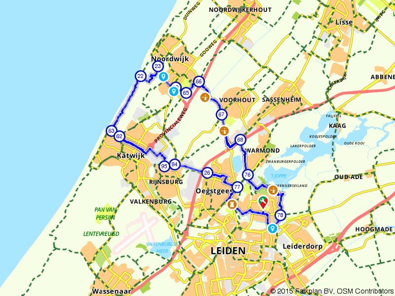 Leiden, Noordwijk en Katwijk aan Zee