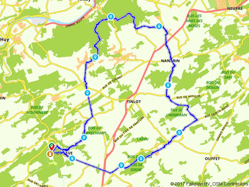 Op pad langs Modave, Seny en Yernee-Fraineux