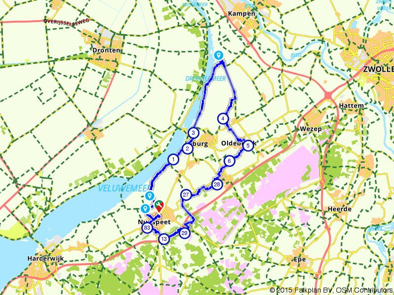Nunspeet, Oldebroek en Elburg