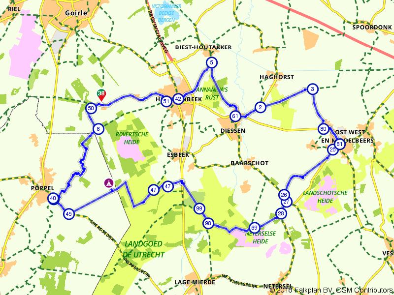 Hilvarenbeek, Poppel en Middelbeers
