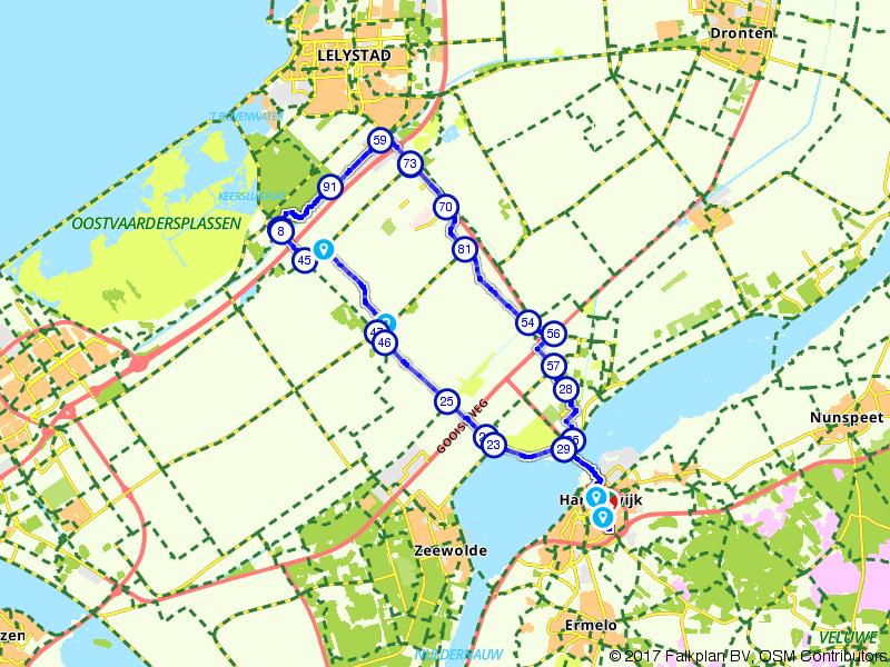 Van Harderwijk naar Lelystad