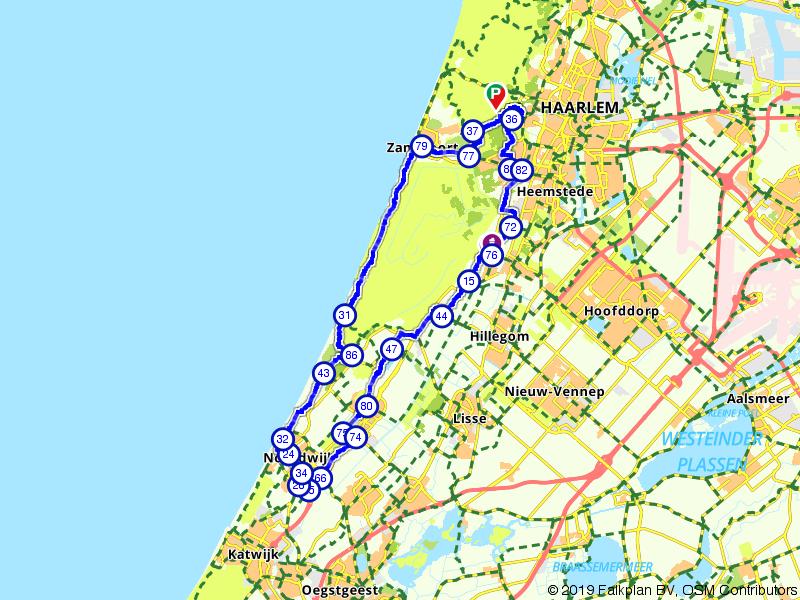Zandvoort, Noordwijkerhout en Noordwijk