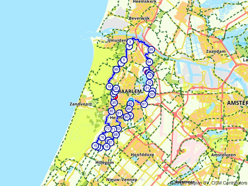 Fietsen rondom Haarlem