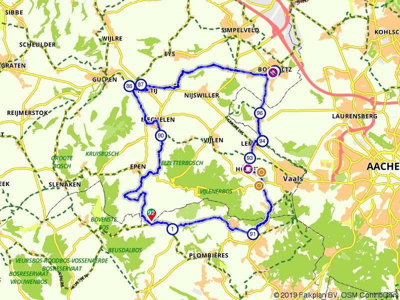 Vanuit België door de Limburgse heuvels