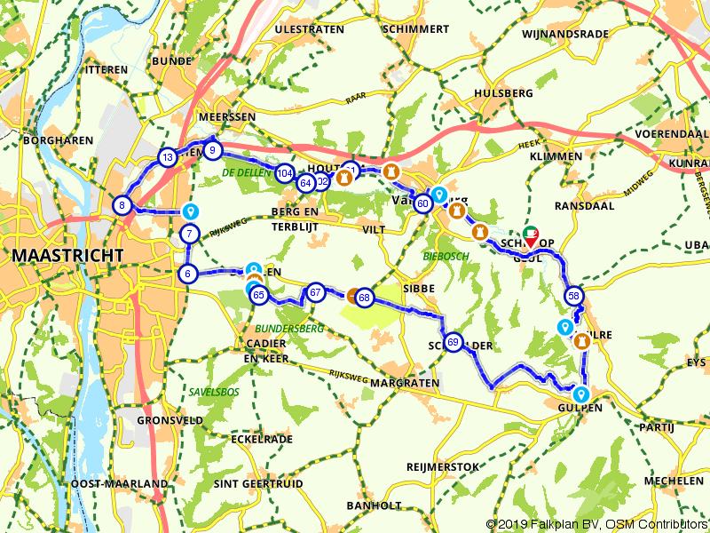 Schin op Geul, Maastricht en Gulpen