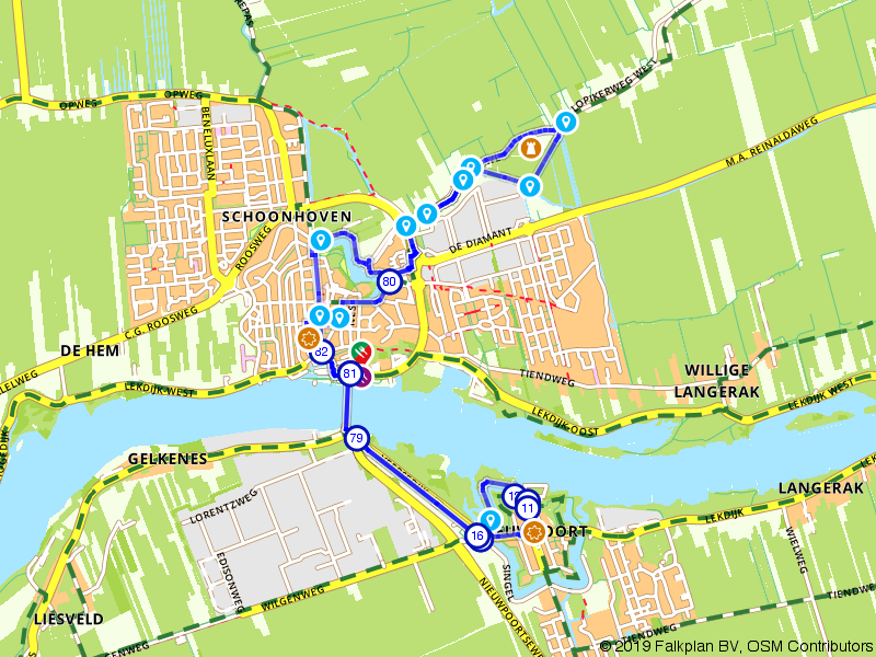 Rondje Schoonhoven en Nieuwpoort