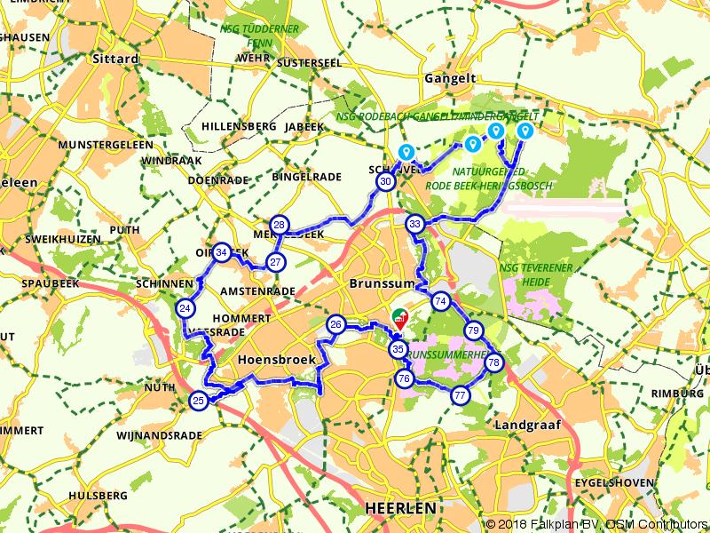 Nuth, Brunssum en Schinveld