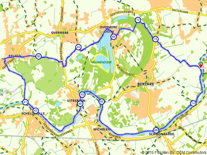 Rondje Berlare: langs Schelde en Donkmeer