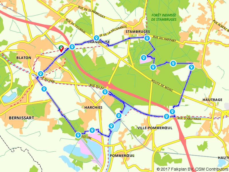 Door de bossen rondom Blaton en Stambruges