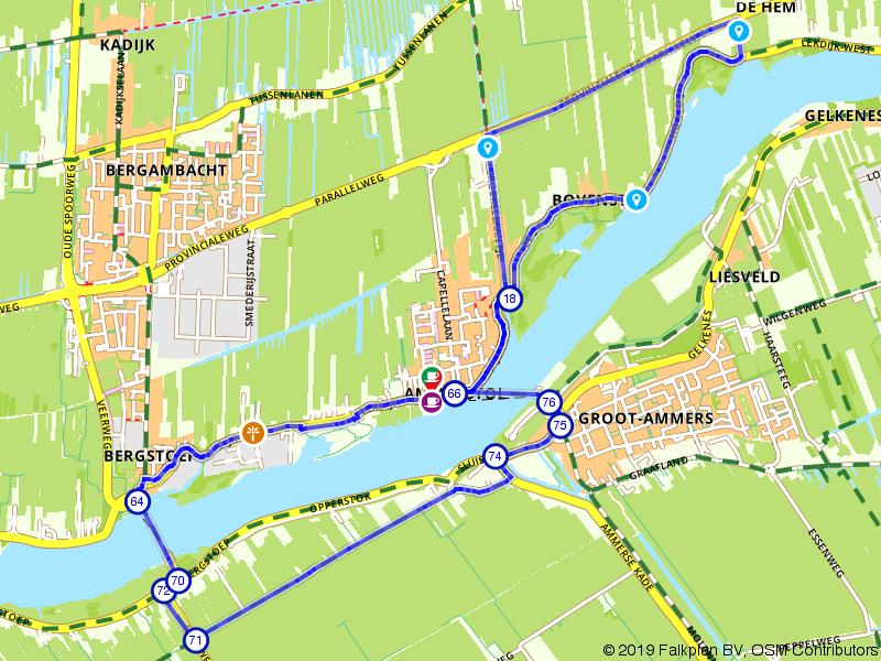 Wandel achtje Ammerstol en Lekdijk