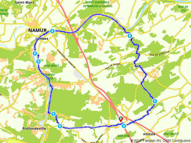Door de Ardennen naar Namen fietsen