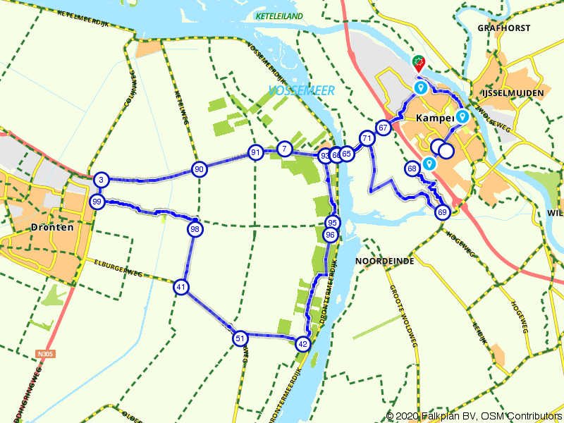 Rondje Reve-Abbertbos vanuit Kampen