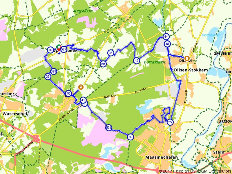 E-bike route Mechelse Heide en Dilsen-Stokkem