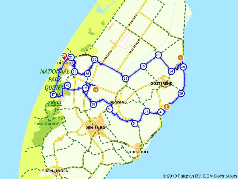 De Koog, De Waal en Oosterend.