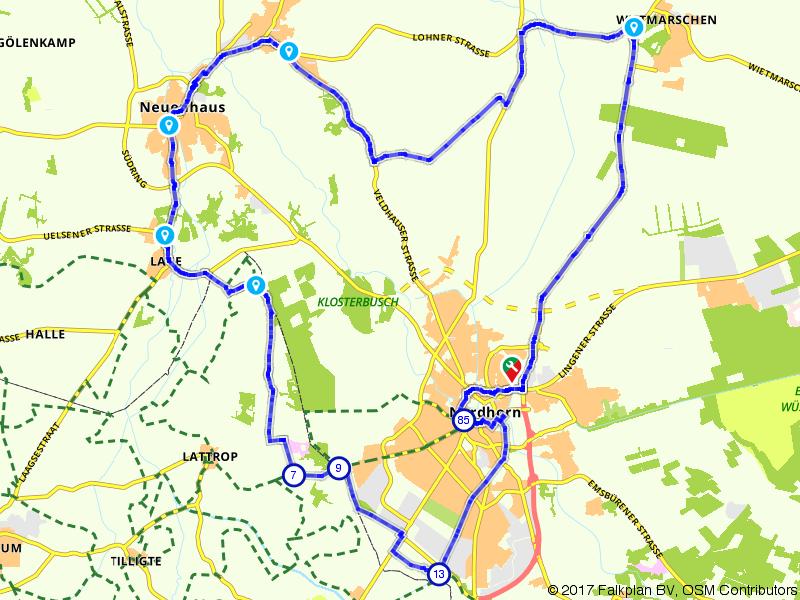 Nordhorn, Neuenhaus, Lage