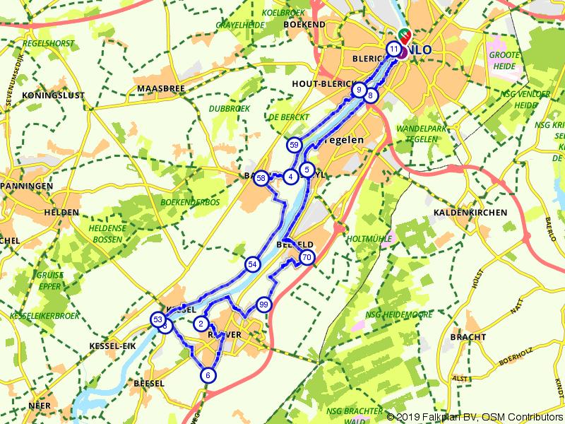 Mooie plaatsjes langs de Limburgse Maas