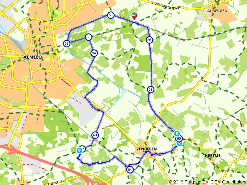 Albergen, Almelo en Zenderen