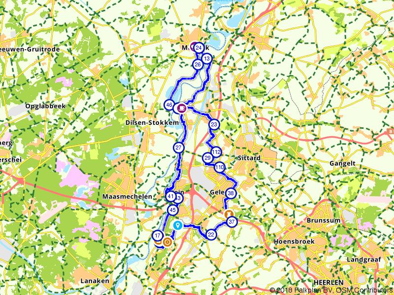 Op en neer langs de Limburgse Maas