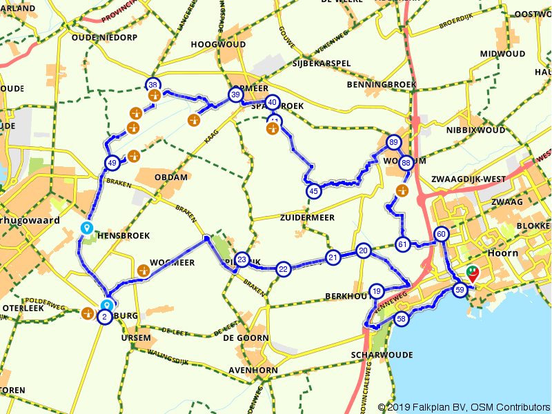 Molenroute in de Kop van Noord-Holland