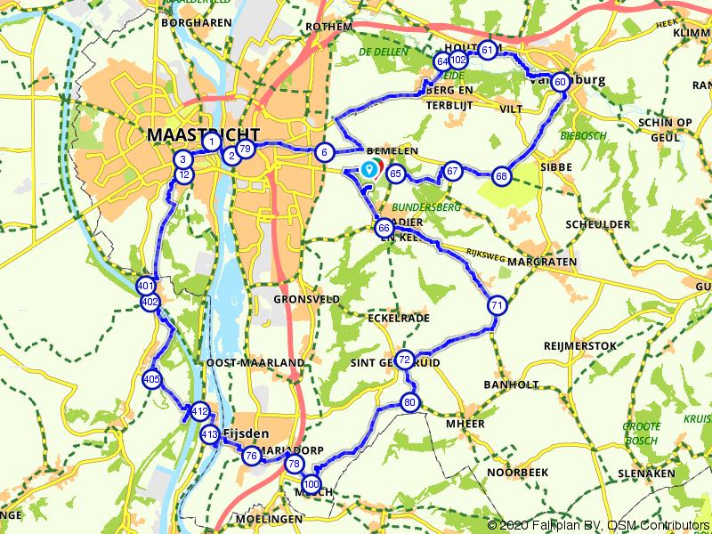 Fietsen door Maastricht en de heuvels