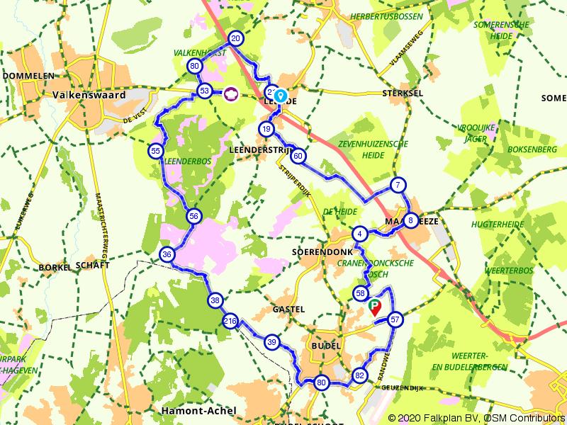 Groote Heide en Leenderbos vanuit Maarheeze