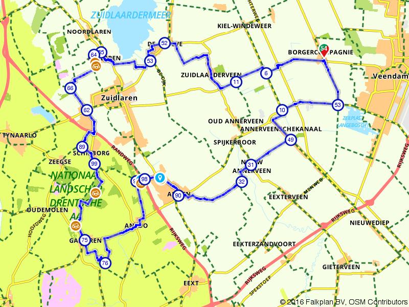 Hunebeddenroute rondom Veendam