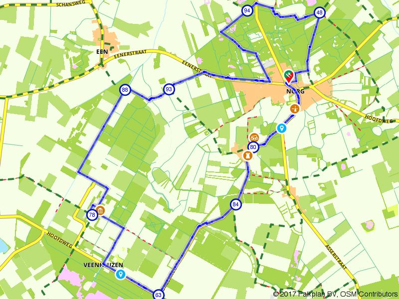 Op de fiets van Norg naar Veenhuizen