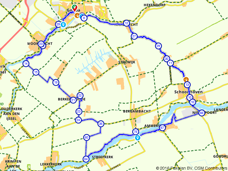 Langs molens en stadjes tussen IJssel en Lek