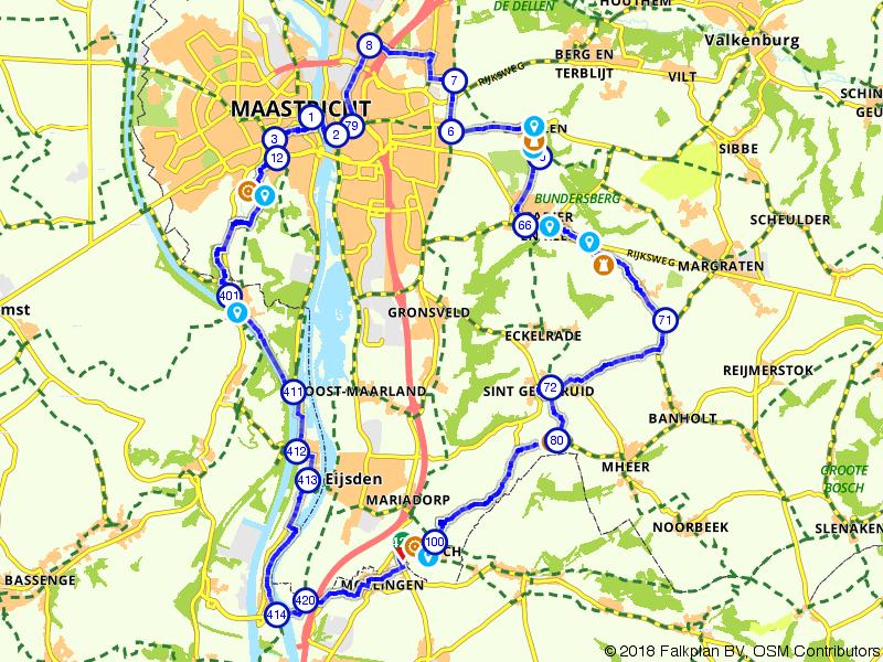 Tijdreis per fiets tussen Maastricht en Moelingen