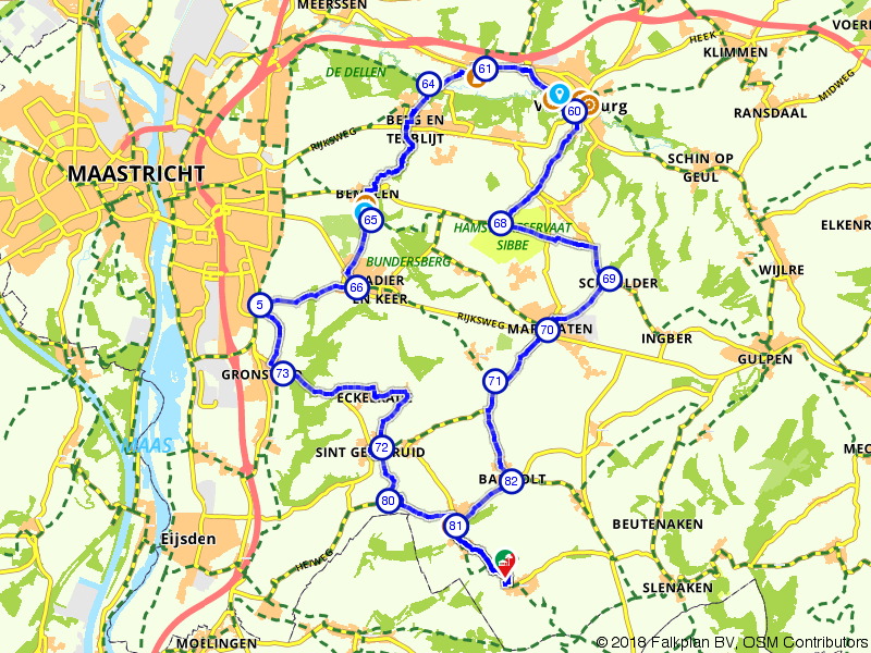 Margraten, Valkenburg en Cadier en Keer