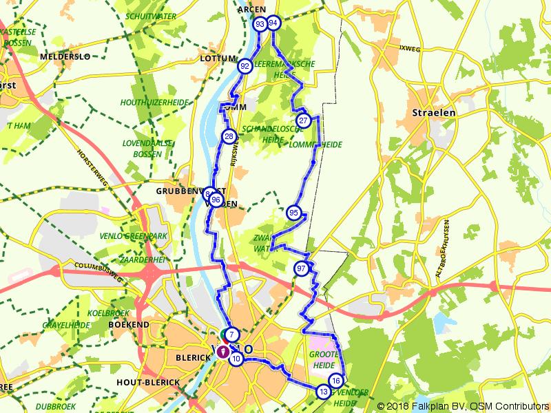Vanuit Venlo naar de Kasteeltuinen van Arcen