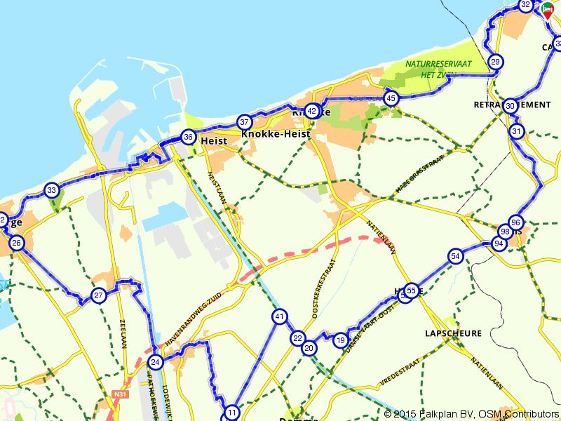 Knokke, Blankeberge en Sluis