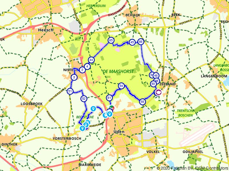 Fietsen door het Natuurgebied De Maashorst