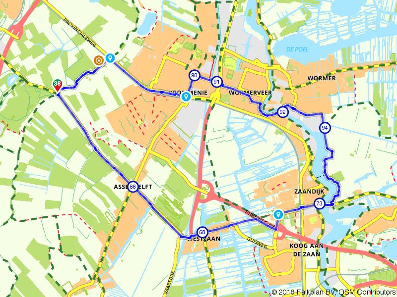 Westzaan, Zaanse Schans en Wormerveer