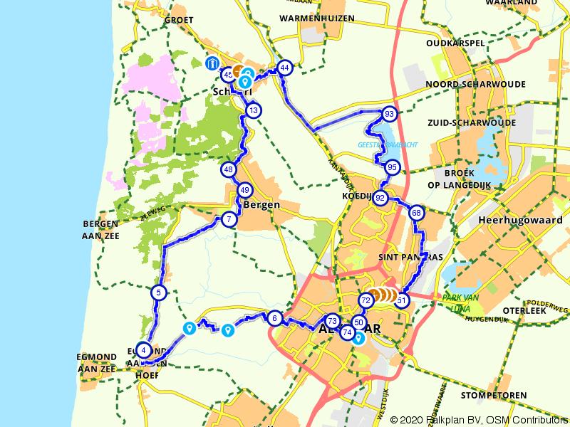 Bergen, Schoorl en Alkmaar