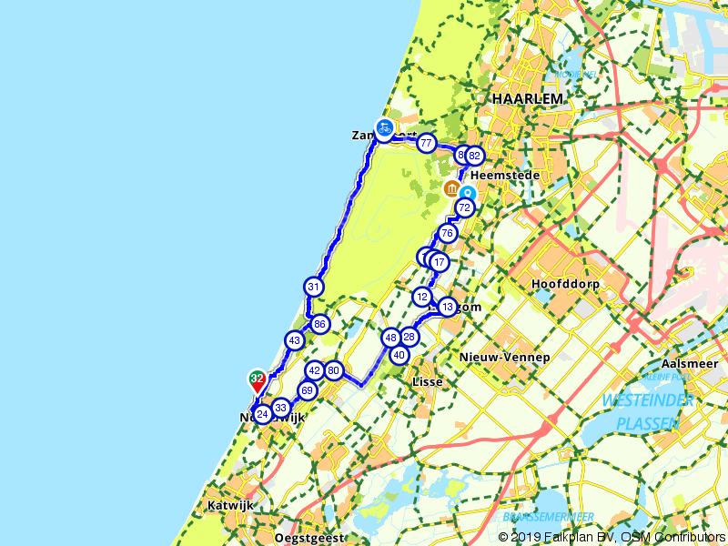 Noordwijk, Zandvoort en de Bollenstreek