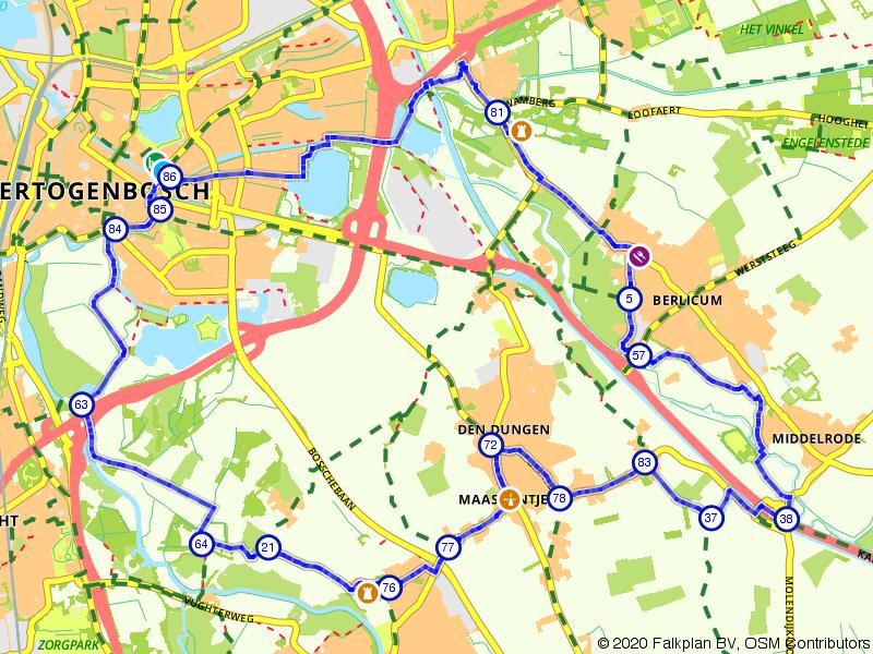 Kastelen tussen 's-Hertogenbosch en Berlicum