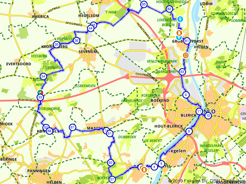 Kastelen en watermolens in Noord-Limburg