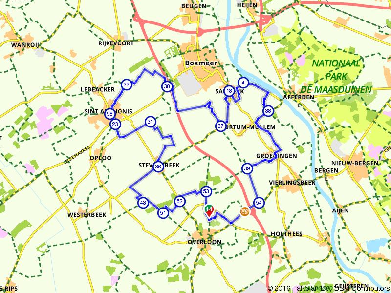Overloon, Sint Anthonis en Boxmeer
