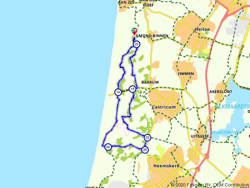 Fietsen door de zilte duinen bij Egmond en Castricum