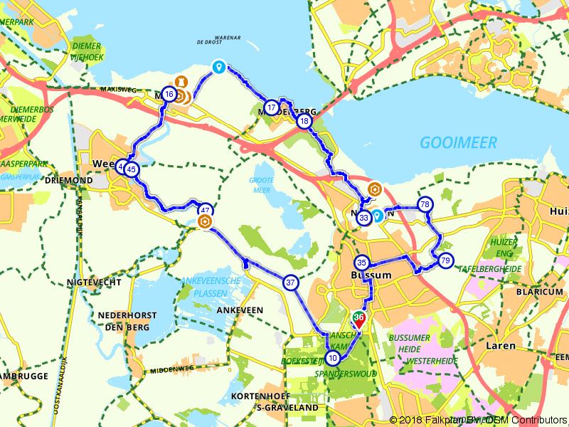 Kasteel- en fortenroute nabij Hilversum