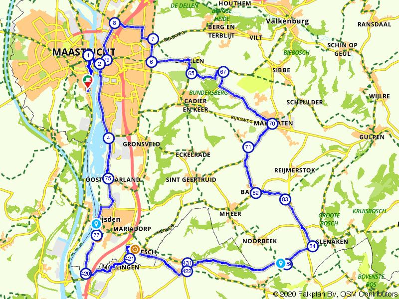 Fietsen over de heuvels bij Maastricht