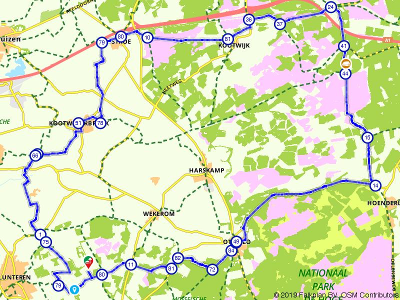 Fietsen over de Veluwe, Kootwijkerzand