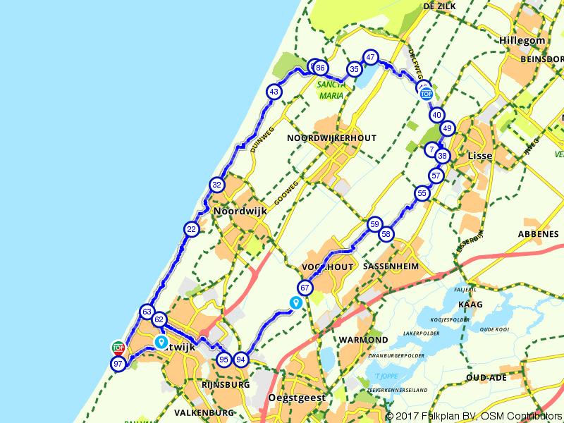 Bollenstreek route