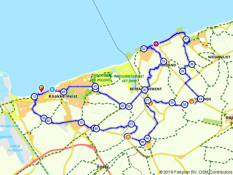 Knokke-Heist en natuurpark het Zwin