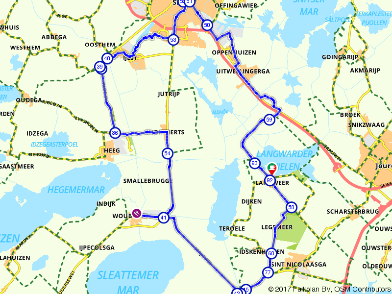 Vanuit Sneek het waterrijke Friese land door
