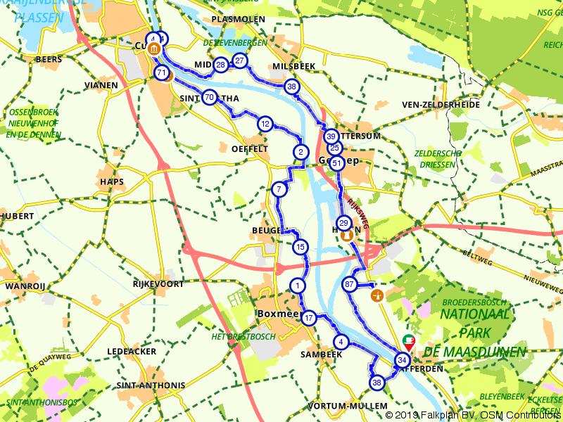 Genieten langs het water; Cuijk, Boxmeer en Gennep
